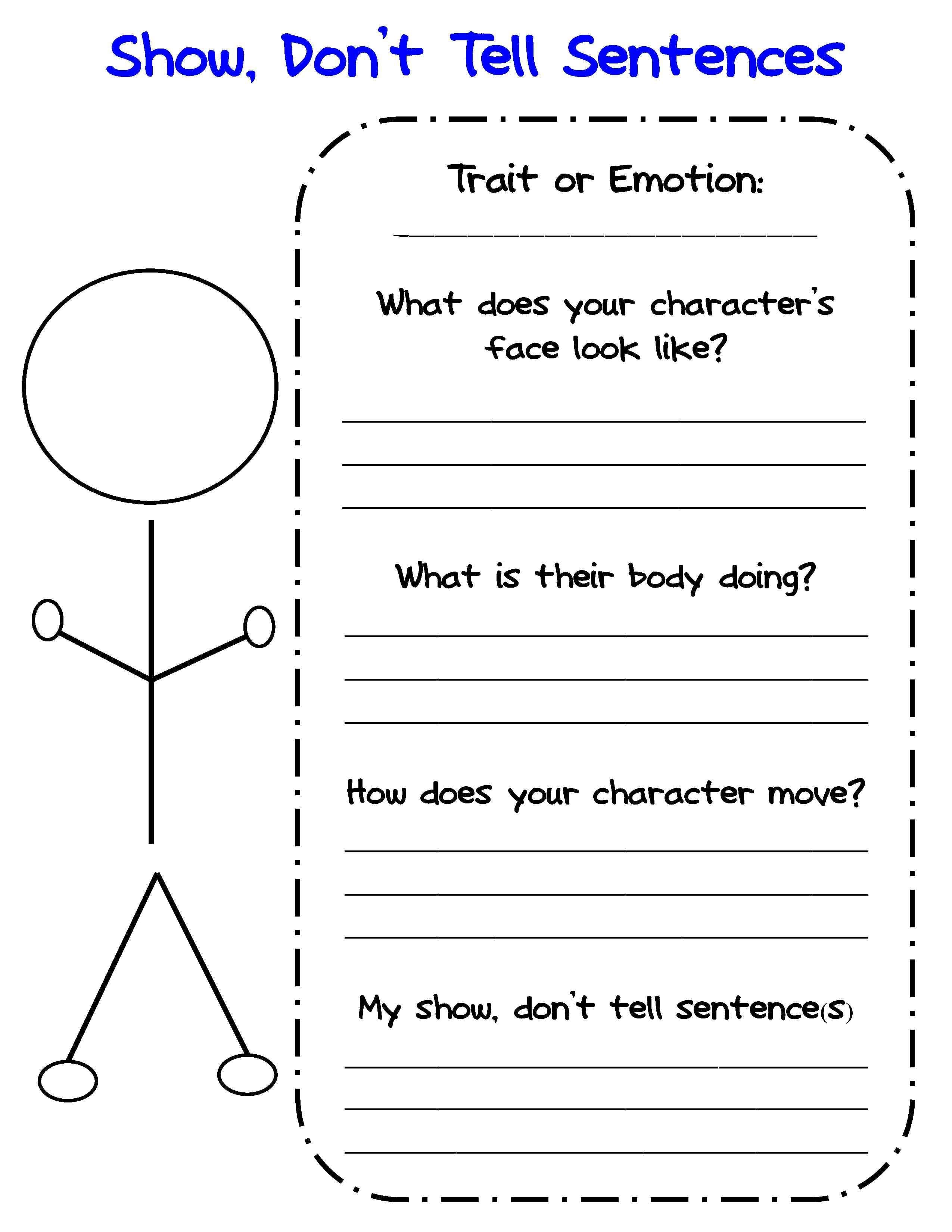 Bringing Characters To Life In Writer's Workshop  Scholastic Along With Character Traits Worksheet 3Rd Grade