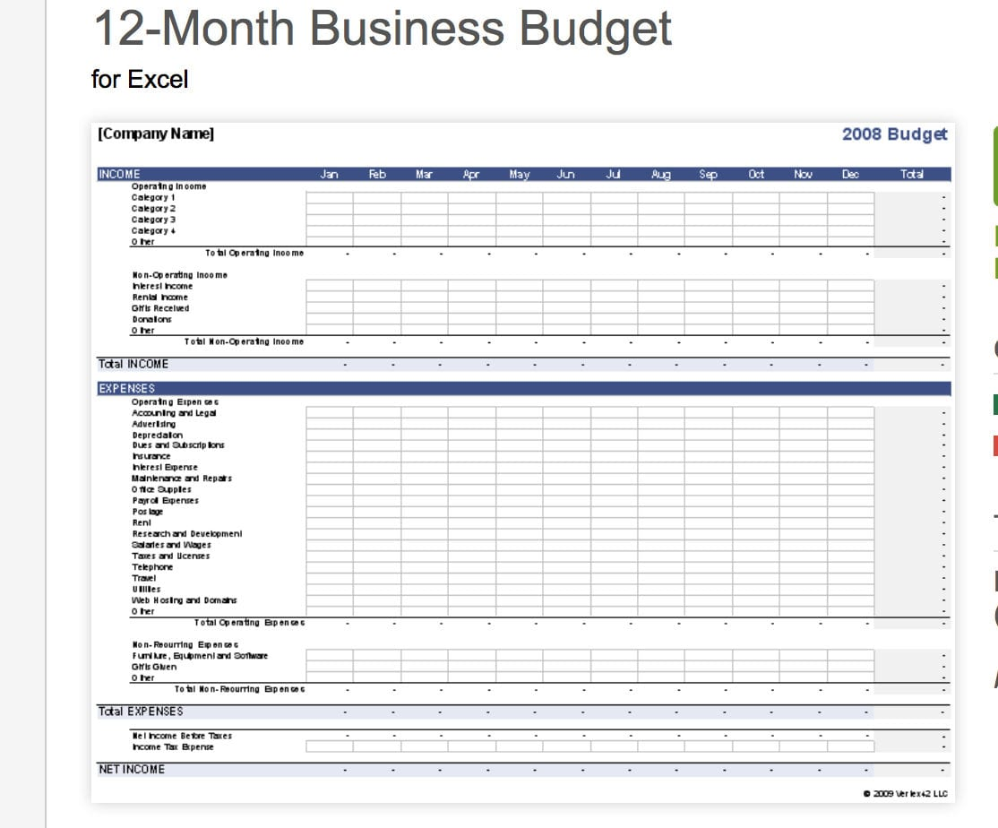 Business Budget Spreadsheet Small Template All The Best Templates Pertaining To Free Business Budget Worksheet