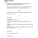Ch 121 Worksheet 3  Part 1 Key  Ch 121 General Chemistry  Studocu Regarding Speed Frequency Wavelength Worksheet