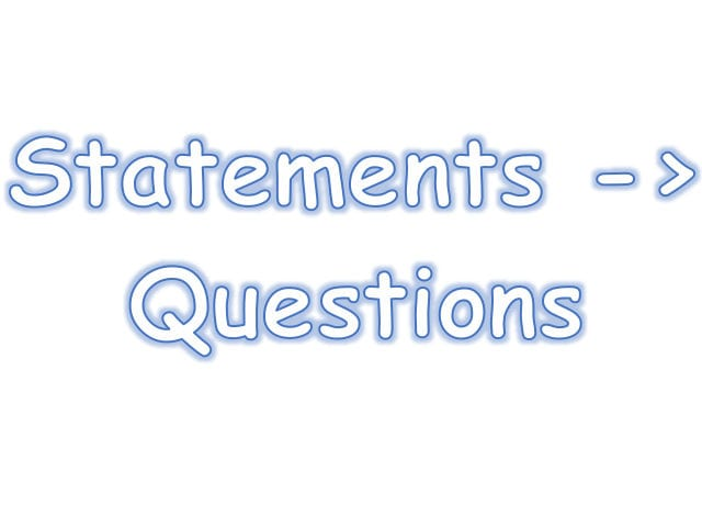 Changing Statements Into Questionschlo3Bear  Teaching Resources With Regard To Changing Statements Into Questions Worksheets With Answers