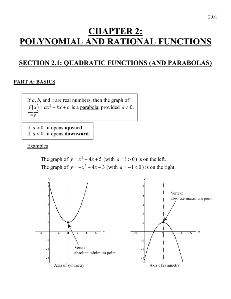 Chapter 2 Polynomial And Rational Functions With Polynomial And Rational Functions Worksheet Answers