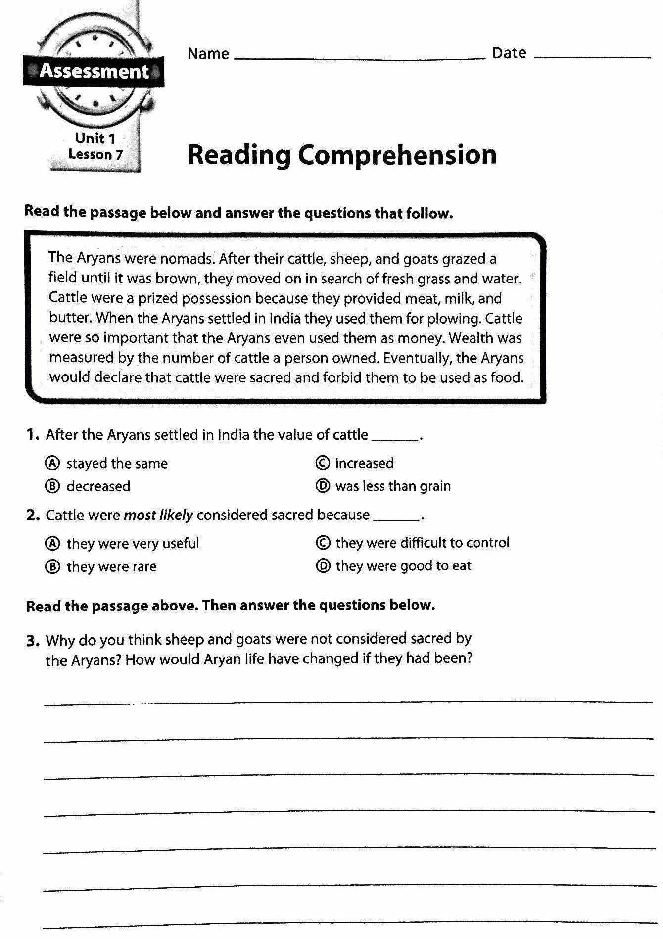 Chapter 4 Ancient India  Mr Proehl's Social Studies Class Together With Mesopotamia Reading Comprehension Worksheets