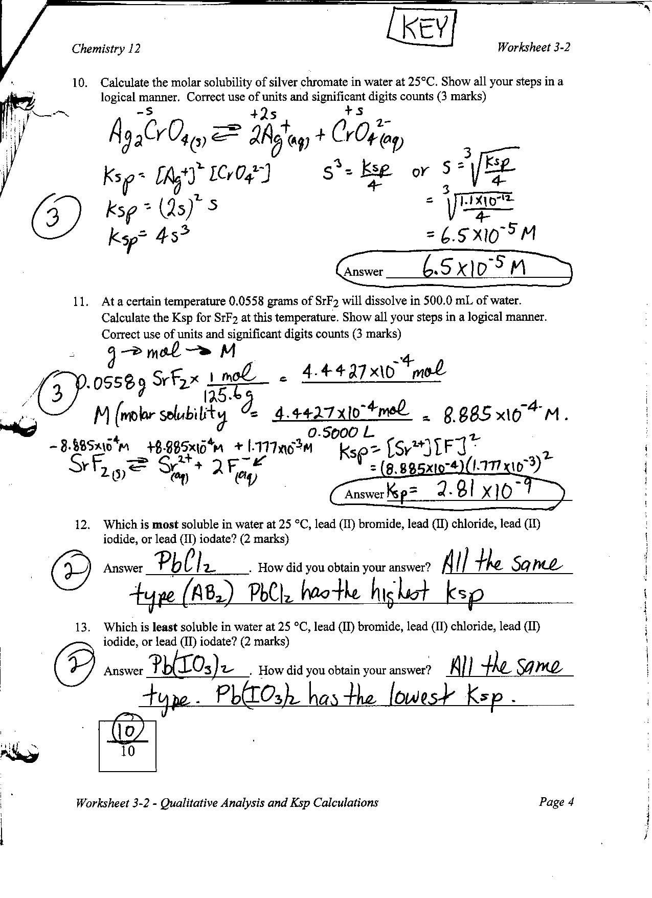 Chemistry Unit 4 Worksheet 2 Answers — excelguider.com