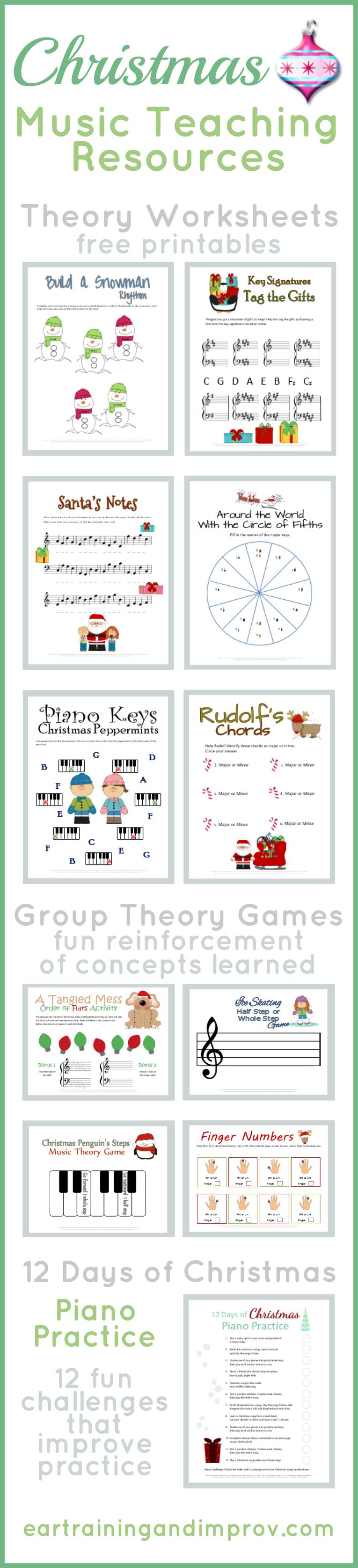 Christmas Music Theory Worksheets  20 Free Printables Inside Music Worksheets For Kindergarten