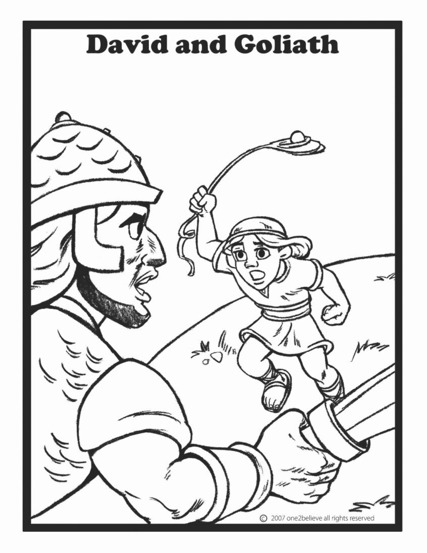 Coloring Bible Story Printable Coloring Pages Mesin Co Free Together With David And Goliath Worksheets Kindergarten