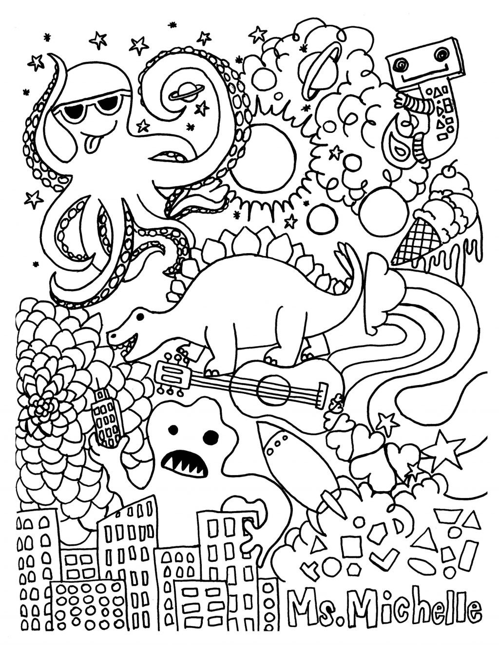 Coloring Page  Coloring Page Musical Instruments Pages Printable And Music Worksheets For Kindergarten