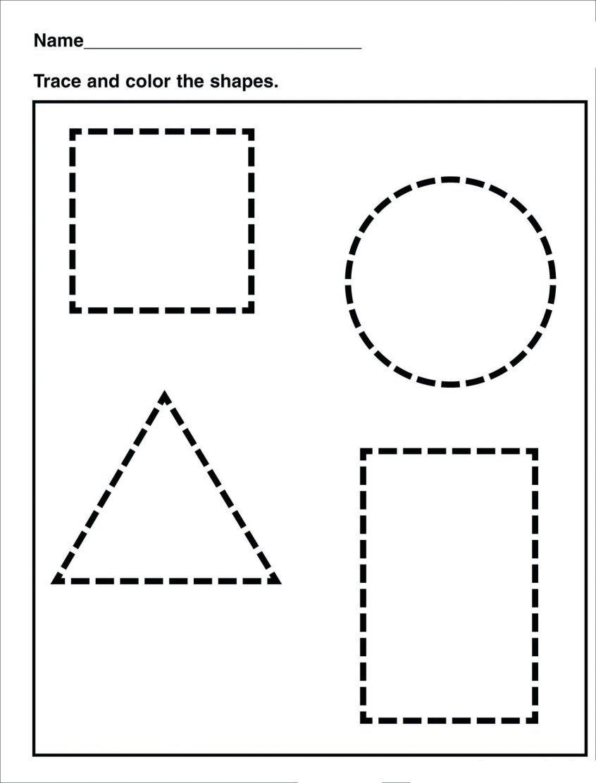 Coloring Shapes Worksheets Kindergarten Pdf Shape Identify Simple For Preschool Learning Worksheets
