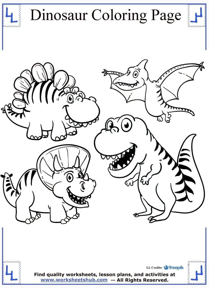 Coloring Splendi Dinosaur Coloring Pages For Toddlers Image Ideas Also Dinosaur Worksheets For Preschool