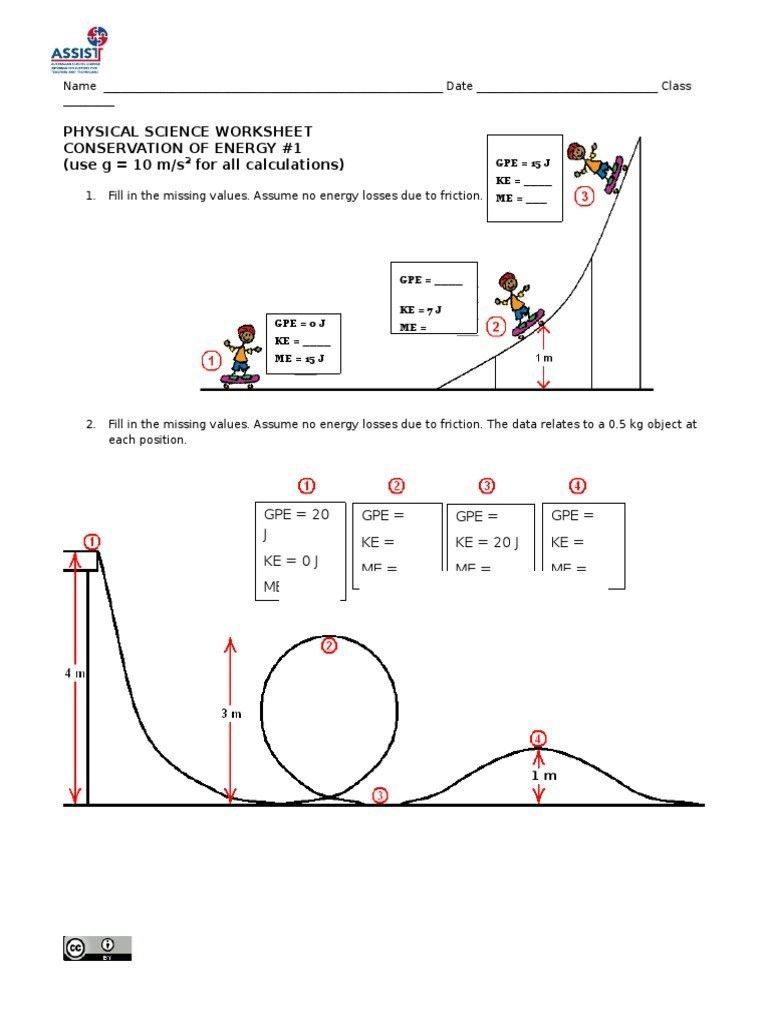 Conservation Of Energy Worksheet Answer Key Conversion And Answers 5 Inside Physical Science Worksheet Conservation Of Energy 2 Answer Key