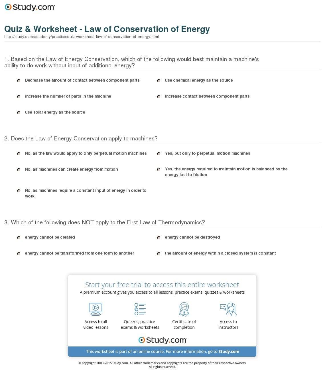 Conservation Of Energy Worksheet Answer Key Pre Algebra Worksheets As Well As Conservation Of Energy Worksheet Answers