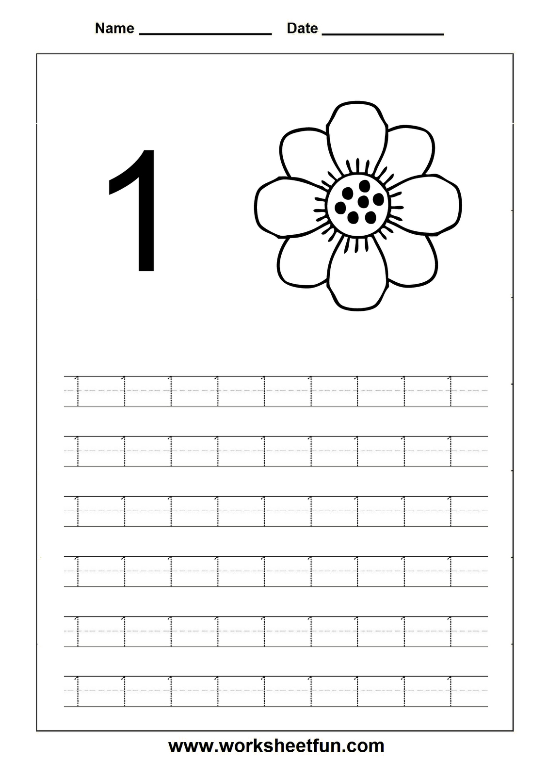 Craftsactvities And Worksheets For Preschooltoddler And Kindergarten With Regard To Number 1 Worksheets