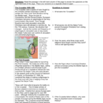 Crusades Activity Intended For The Crusades Map Worksheet Answers