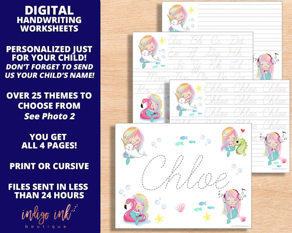 Custom Name Writing Worksheet Handwriting Worksheet Digital  Etsy Pertaining To Custom Name Tracing Worksheets