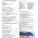 Dark Horse Katy Perry Song Worksheet  Free Esl Printable In Enemy Pie Printable Worksheet