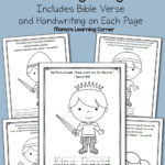 David And Goliath Bible Coloring Pages  Mamas Learning Corner In David And Goliath Worksheets Kindergarten