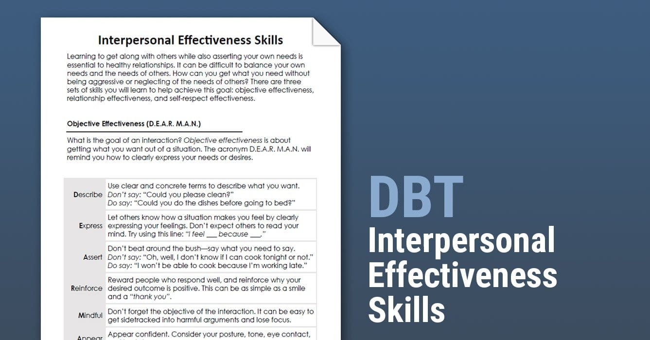 Social Skills Training Worksheets Adults — excelguider.com