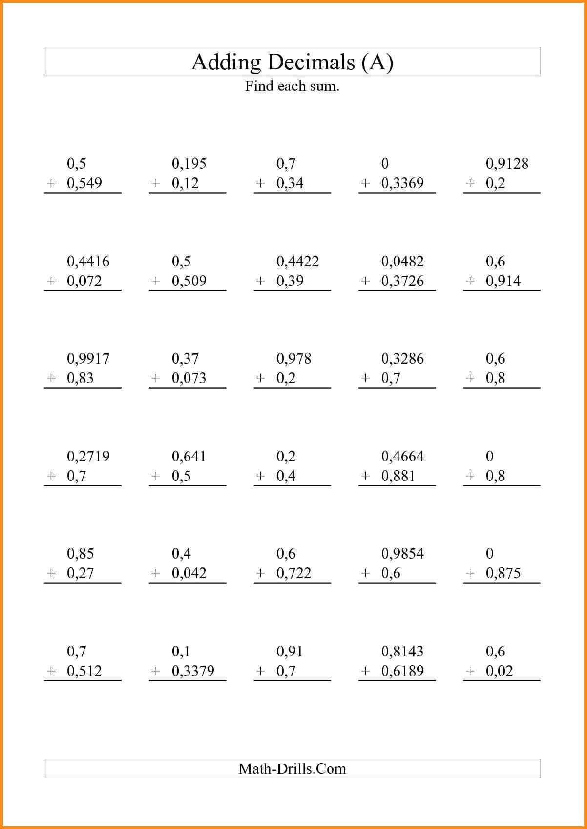 Decimals Worksheets Grade 5 Following Directions Worksheet Letter E In Multiplying Decimals By Decimals Worksheet