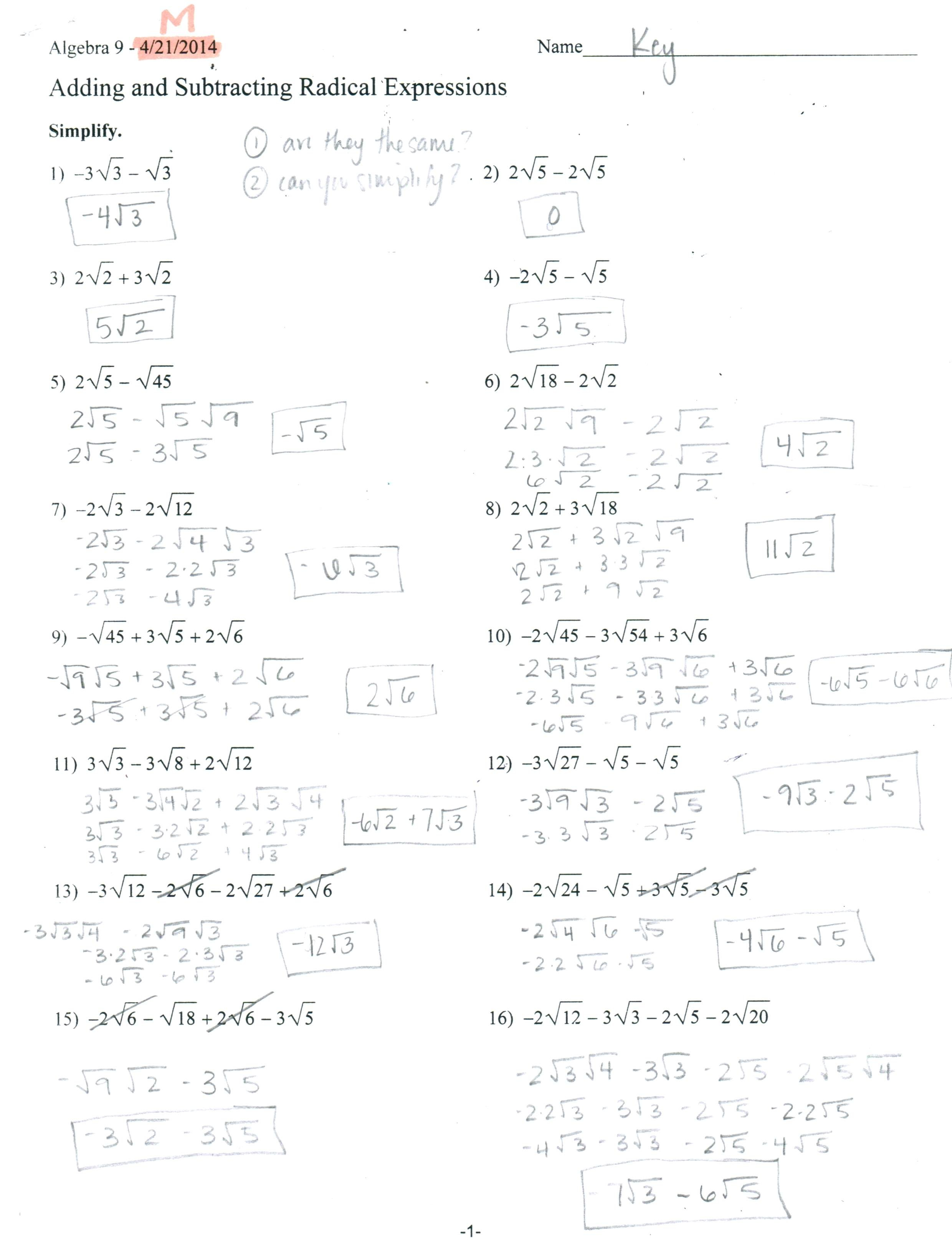 Dividing Radicals Math Dividing Radical Expressions Math Aids Within Multiplying Radical Expressions Worksheet Answers