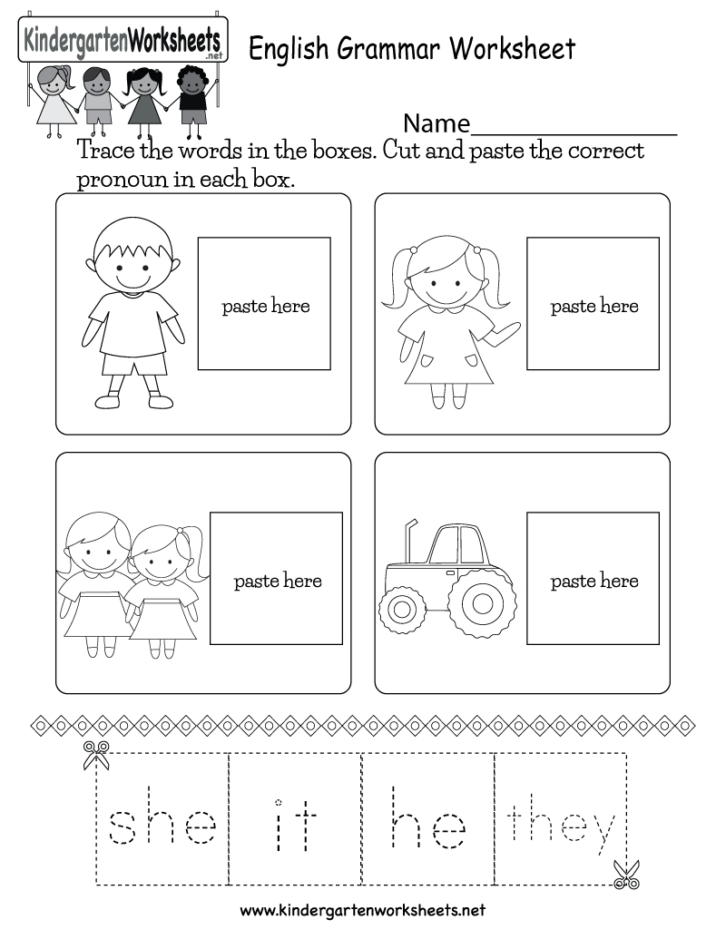 English Grammar Worksheet  Free Kindergarten English Worksheet For Kids With Kindergarten English Worksheets Pdf