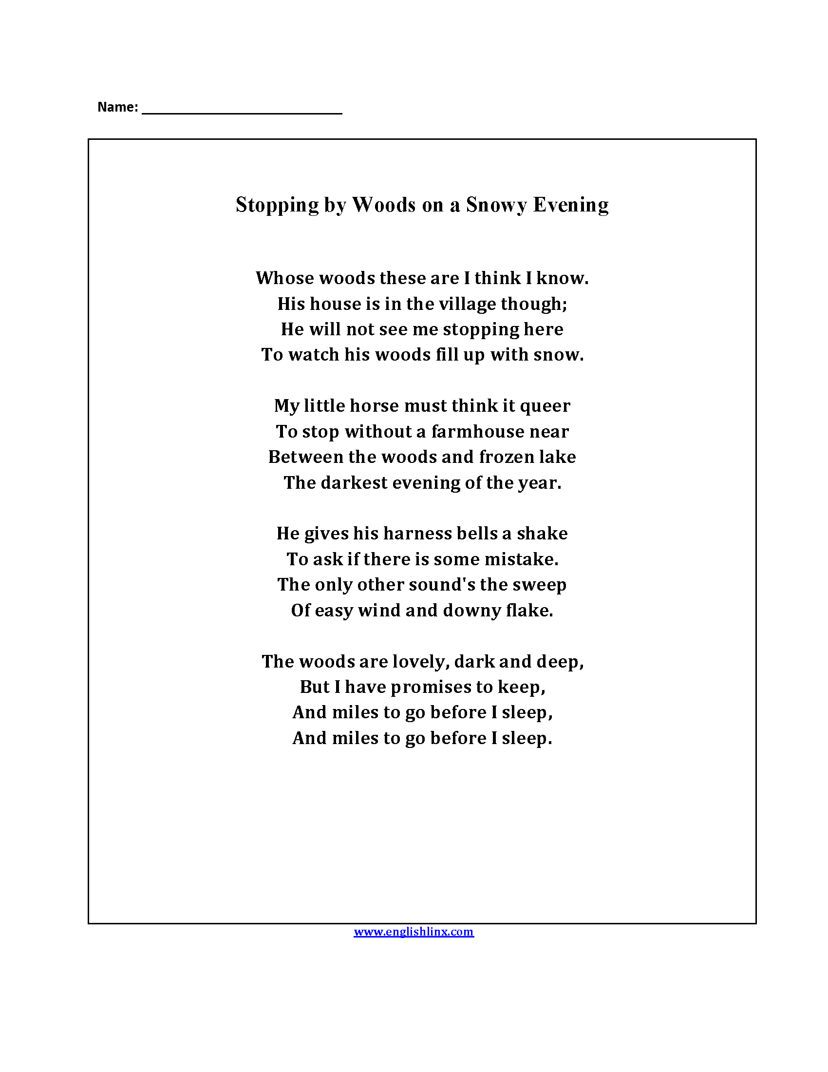 Englishlinx  Poetry Worksheets Together With Poetry Worksheets Printable