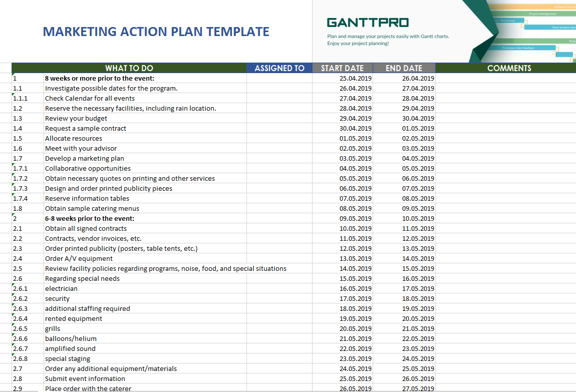 Event Planning Worksheet  Excel Template  Free Download In Event Planning Worksheet