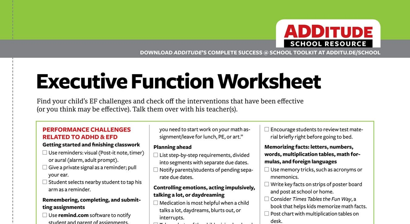 Executive Function Worksheets For Adults Order Of Operations Pertaining To Executive Function Worksheets For Adults