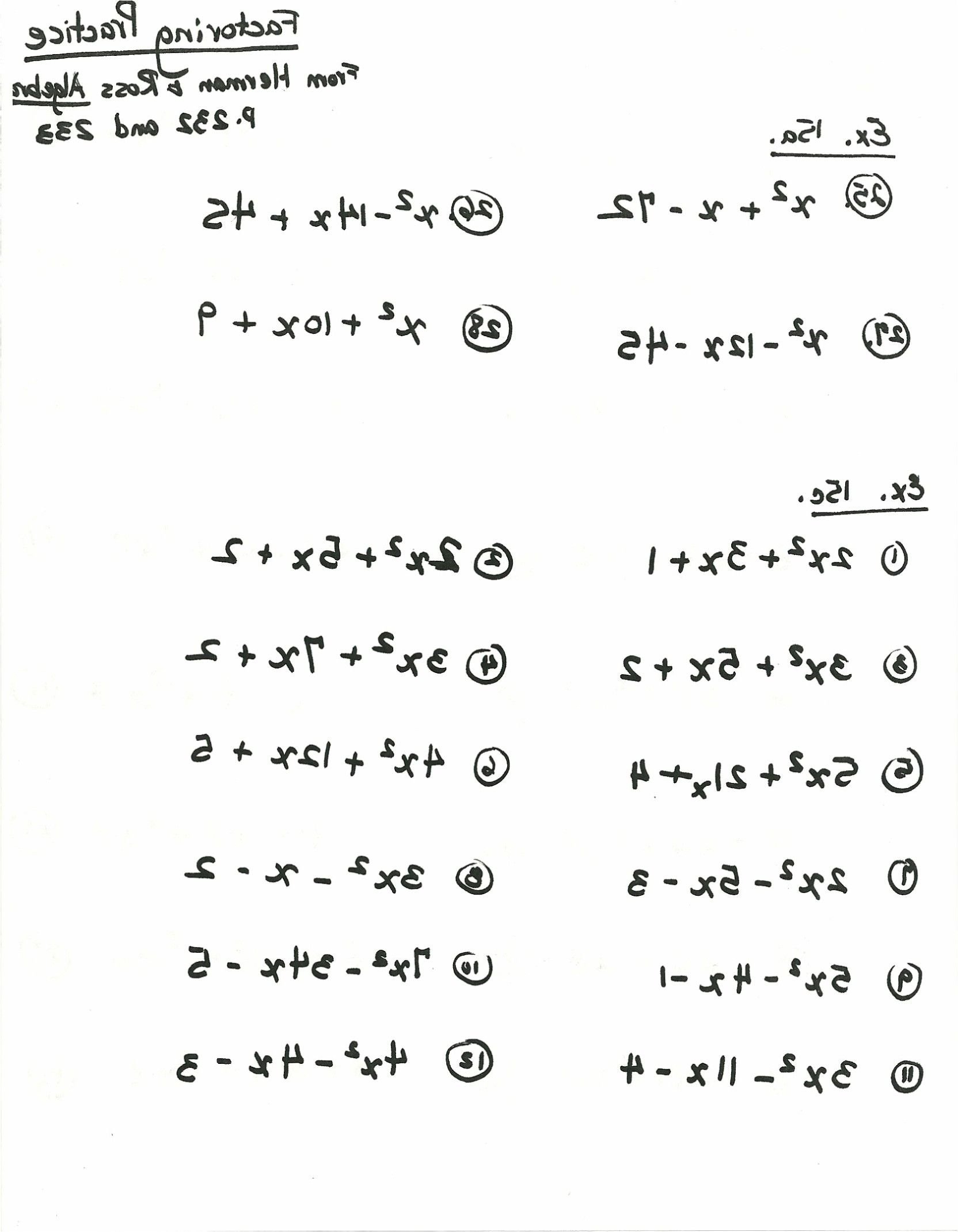 Factoring Practice Worksheet Answers  Briefencounters Within Factoring Practice Worksheet Answers