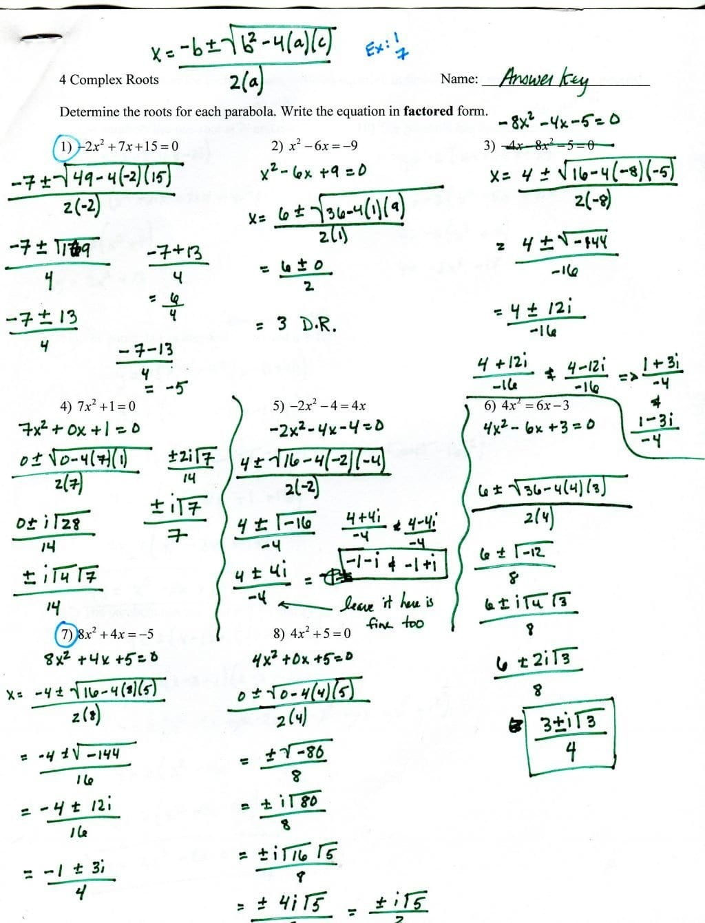 Factoring Trinomials Worksheet With Answer Key Integers Worksheet Or Worksheet Factoring Trinomials Answers Key