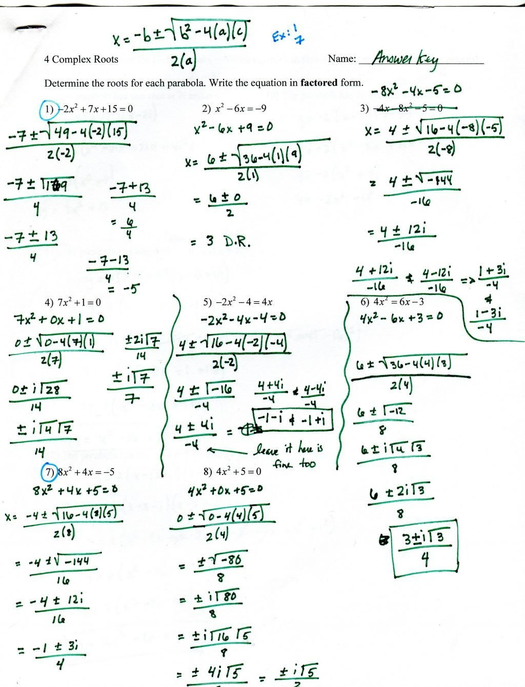 Factoring Trinomials Worksheet With Answer Key Integers Worksheet Pertaining To Factoring Worksheet With Answers