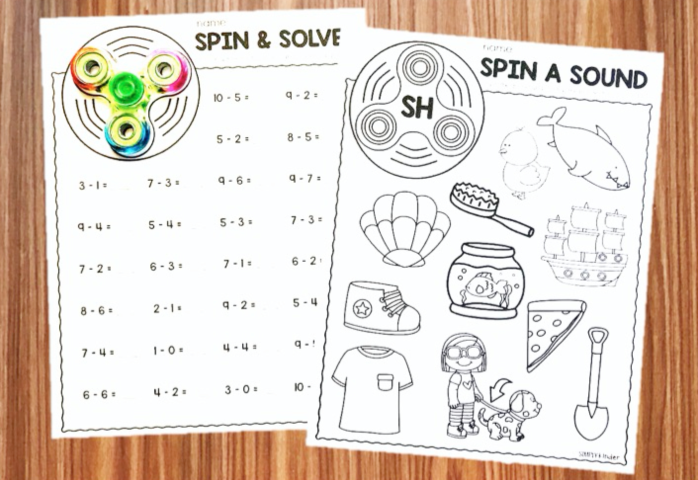 Fidget Spinner Activities For Kindergarten  Simply Kinder Throughout Fidget Spinner Worksheets