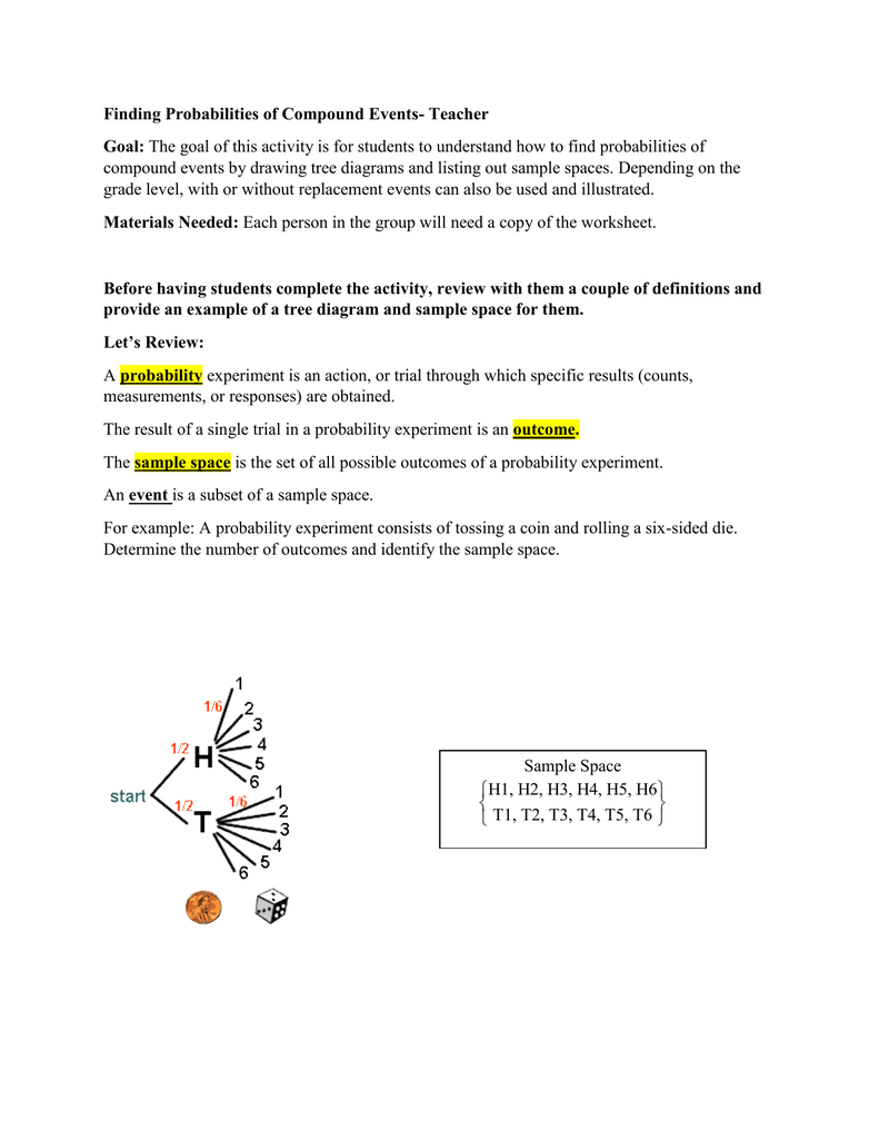 Finding Probabilities Of Compound Events Together With Probability Of Compound Events Worksheet