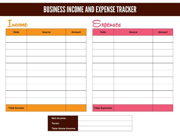 Free Business Income Worksheet And Google Doc And Self Employed Income Worksheet