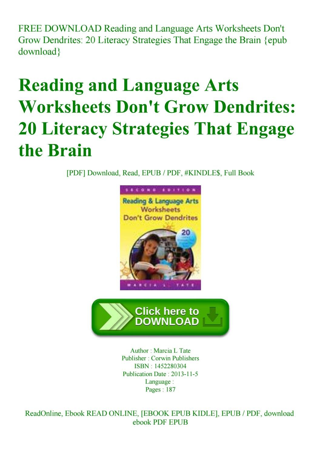 Free Download Reading And Language Arts Worksheets Don't Grow Intended For Worksheets Don T Grow Dendrites Pdf