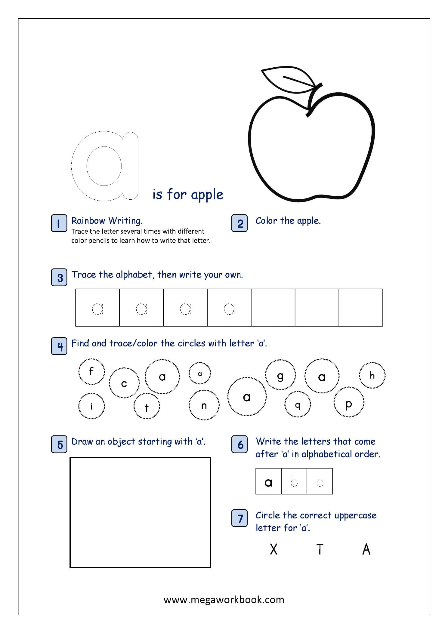 Free Printable Alphabet Recognition Worksheets For Small Letters And Kindergarten Letter Recognition Worksheets