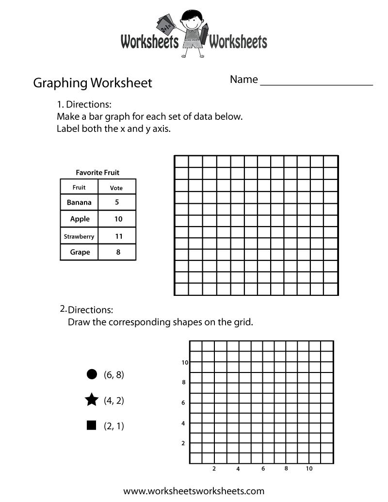 Free Printable Graphing Practice Worksheet Throughout Graphing Practice Worksheet