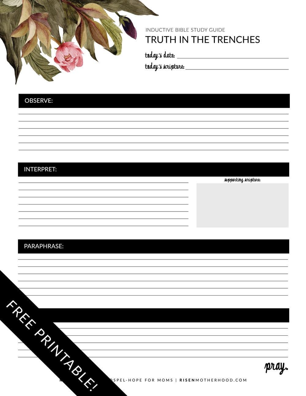 Free Printable Inductive Bible Study Worksheets  Companion Card Also Bible Study Worksheets For Adults