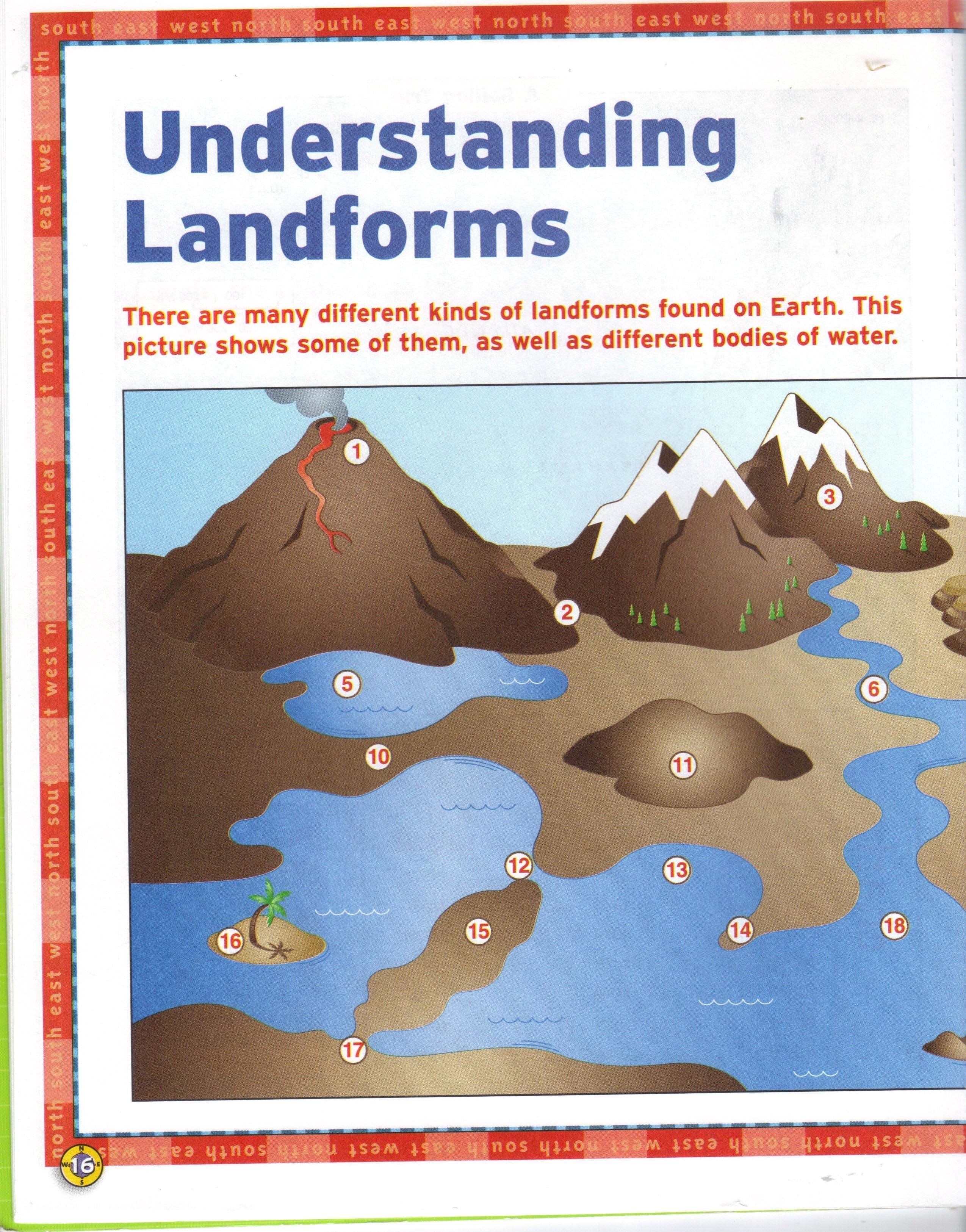 Free Printable Landforms Worksheets The Best Worksheets Image Pertaining To Free Printable Landform Worksheets