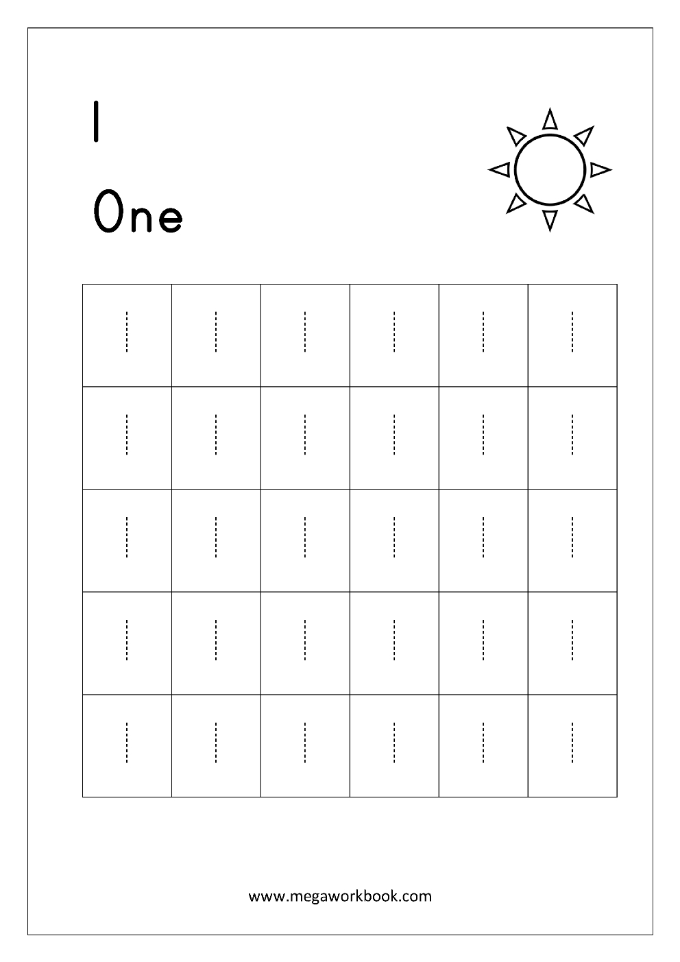 Free Printable Number Tracing And Writing 110 Worksheets  Number With Regard To Number 1 Worksheets