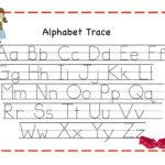 Free Printable Worksheets Tracing Alphabet With Preschool Alphabet In Free Printable Tracing Alphabet Worksheets