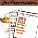 Free Thanksgiving Worksheets For Preschool Math Also Thanksgiving Worksheets For Preschoolers