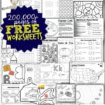 Free Worksheets  200000 For Prek6Th  123 Homeschool 4 Me For Preschool Worksheets Age 3