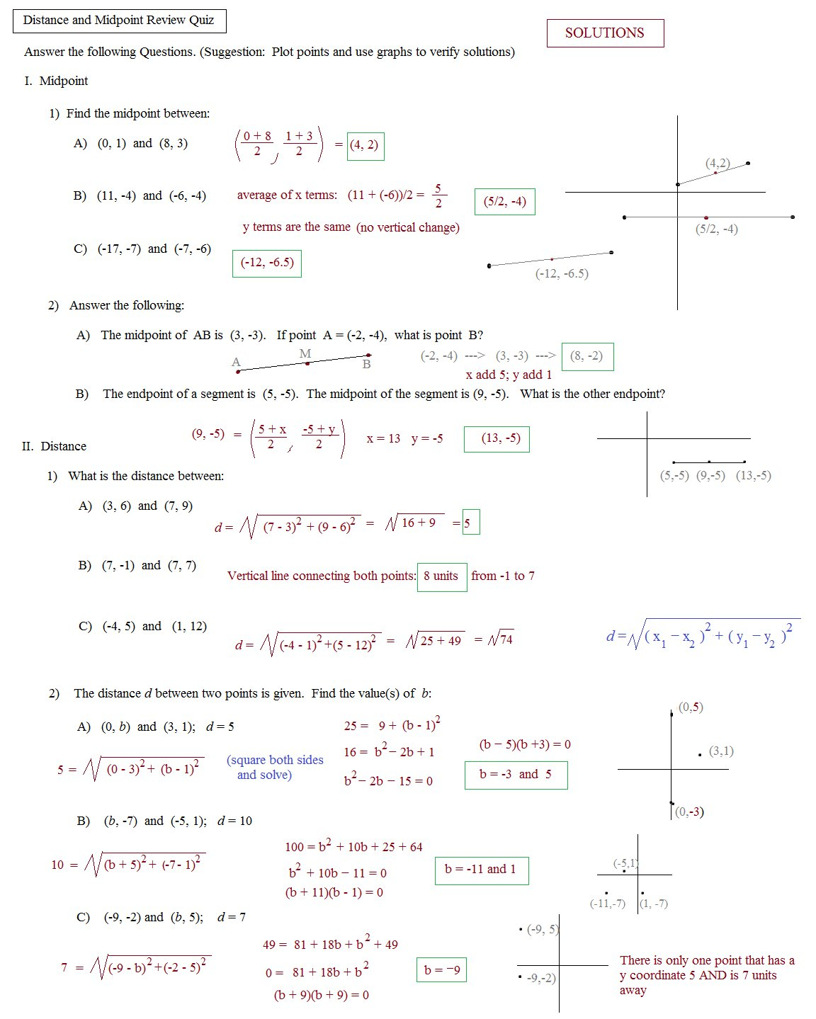 Geometry Distance And Midpoint Worksheet The Best Worksheets Image Together With Distance And Midpoint Worksheet Answers