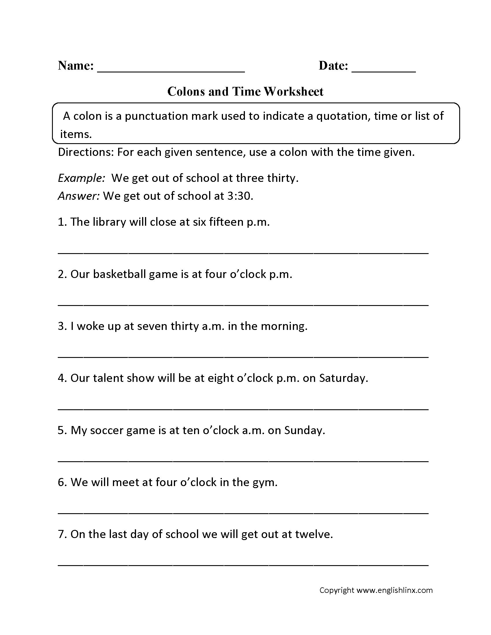 Grammar Worksheets  Punctuation Worksheets And Grammar And Punctuation Worksheets