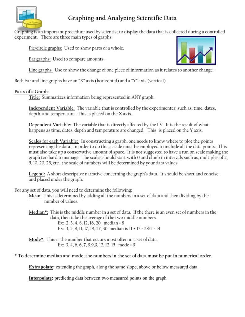 Graph Worksheet With Graphing And Analyzing Scientific Data Worksheet Answer Key