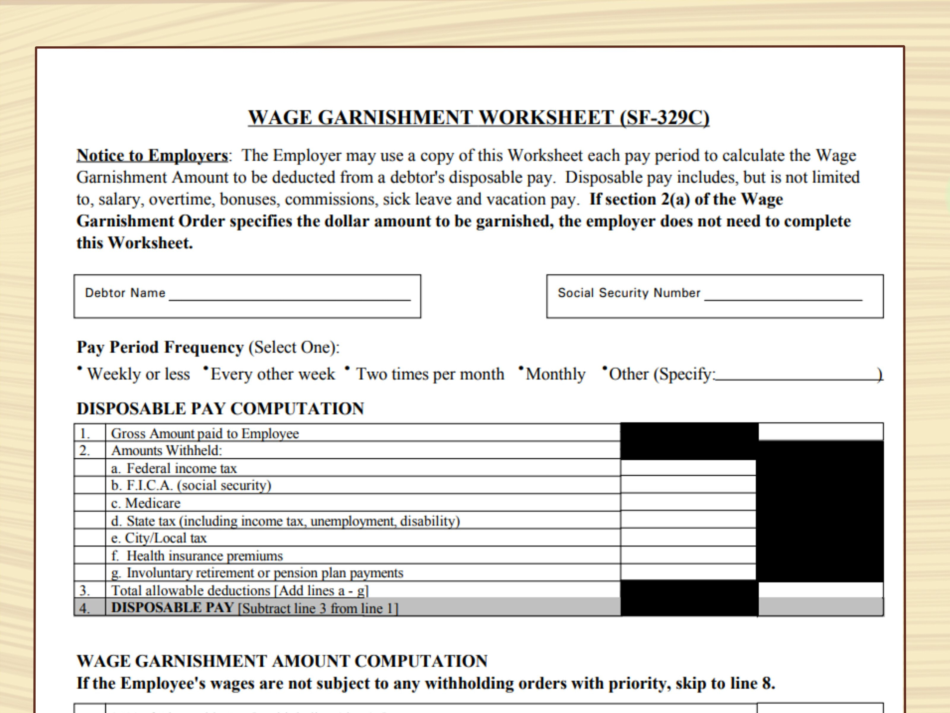 How To File A Lien 14 Steps With Pictures  Wikihow Pertaining To Wage Garnishment Worksheet