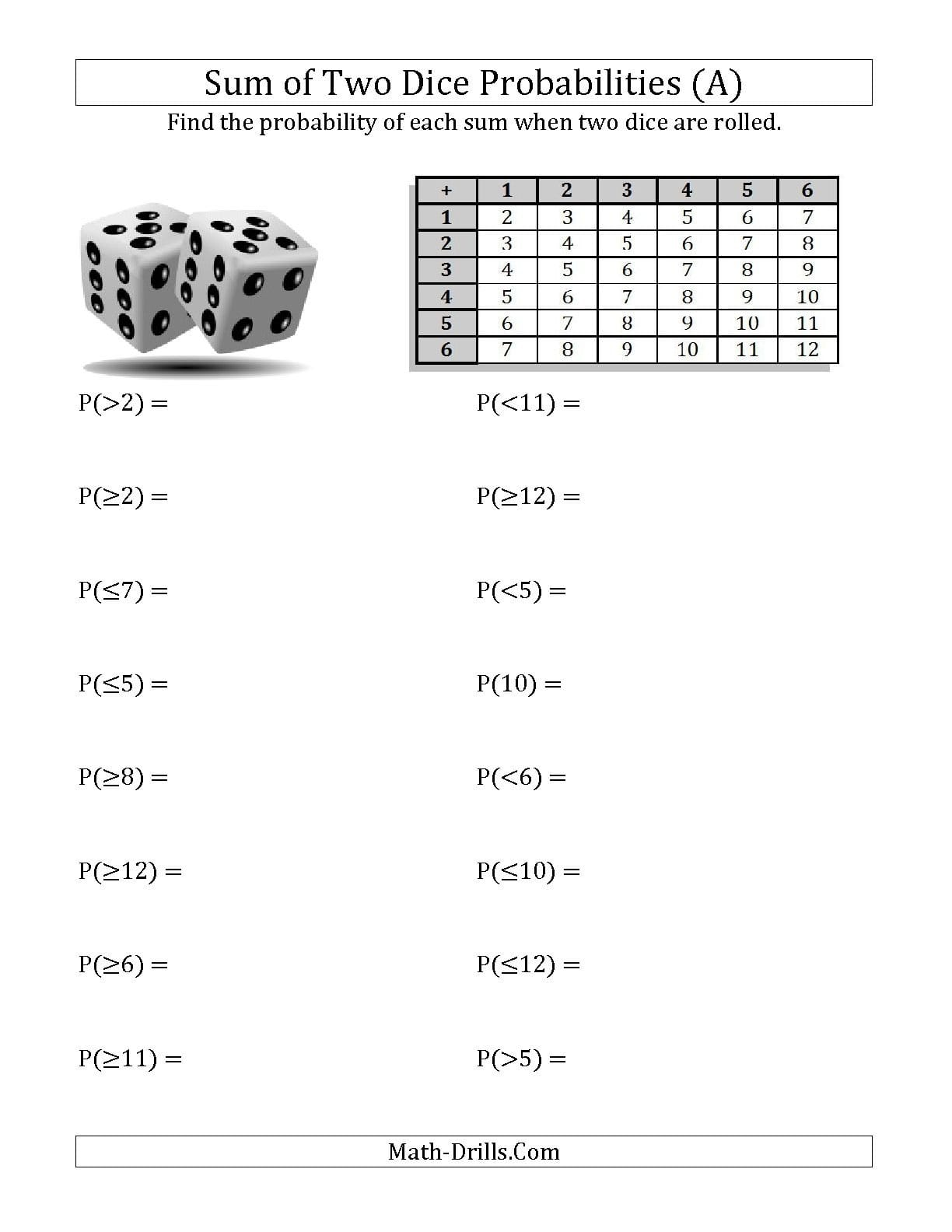 Ideas Of 6Th Grade Math Probability Worksheets The Best Worksheets Regarding 6Th Grade Probability Worksheets