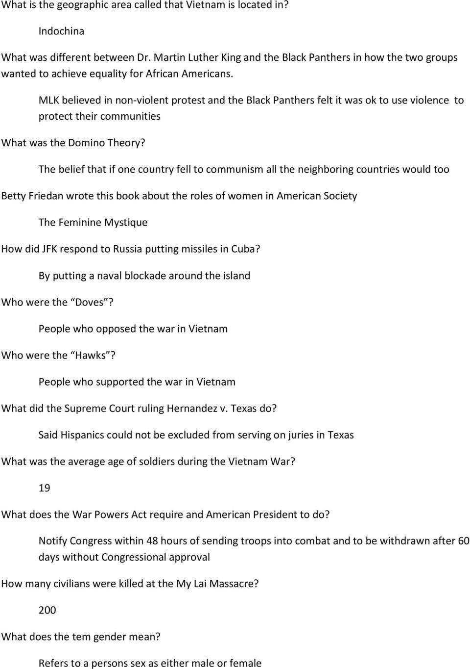 Jfk Lbj Vietnam Test Review  Pdf Together With Vietnam War Worksheet Answer Key