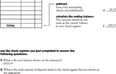Keeping A Running Balance Answer Key  Pdf with regard to Reconciling An Account Worksheet Answers