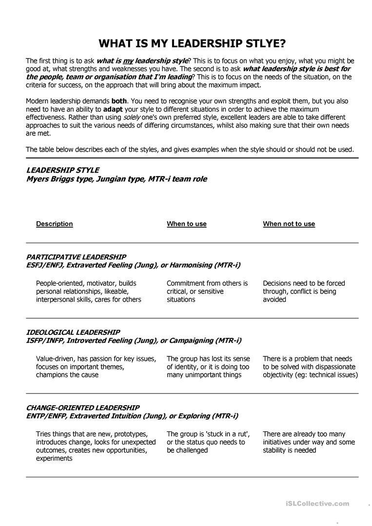 Leadership Worksheets The Best Worksheets Image Collection With Free Leadership Worksheets