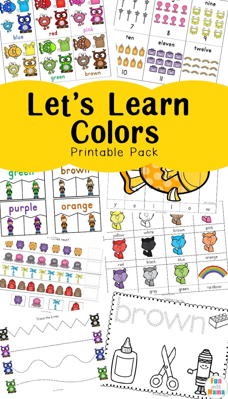 Learning Colors With Fun Color Themed Printable Worksheets  Fun Along With Learning Colors Worksheets